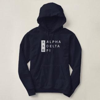 Pull À Capuche Alpha logo empilé par | du delta pi