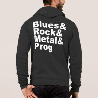 Pull À Capuche Blues&Rock&Metal&Prog (blanc)