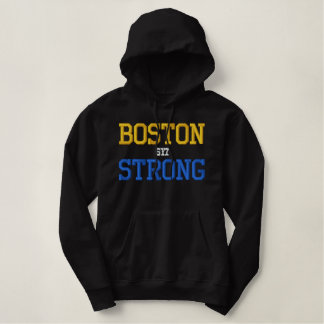Pull À Capuche Brodé Boston fort