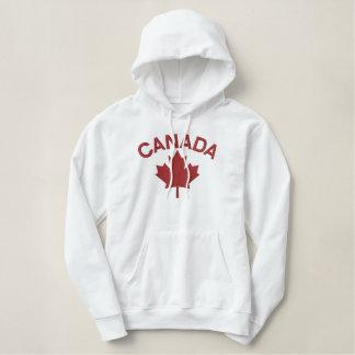 Pull À Capuche Brodé Broderie canadienne CANADA de feuille d'érable