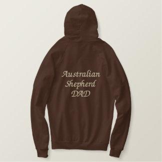 Pull À Capuche Brodé Cadeaux australiens de PAPA de berger