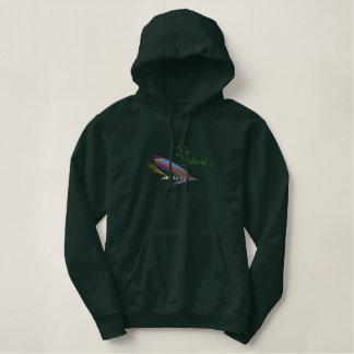 Pull À Capuche Brodé Logo de pêche à la mouche