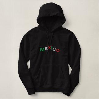 Pull À Capuche Brodé Pull, Mexique, montagne, tricolore, brodée