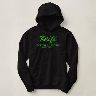 Pull À Capuche Brodé Vert de Keifi Internet Clothing Company