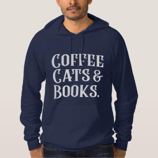 Pull À Capuche Chats et livres de café
