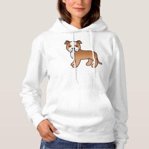 Chapeau De Licorne Staffordshire Bull Terrier Chien Sweatshirt