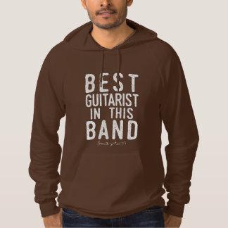 Pull À Capuche Le meilleur guitariste (peut-être) (blanc)