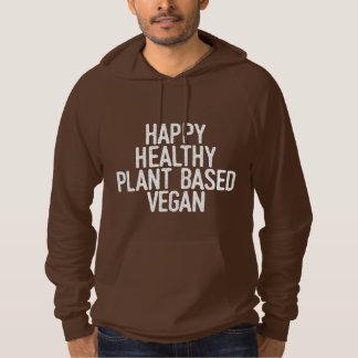 Pull À Capuche Le plante sain heureux a basé le végétalien