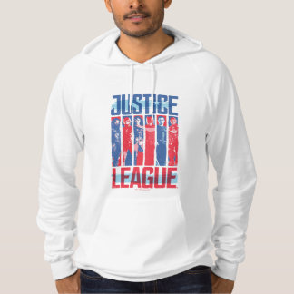Pull À Capuche Ligue de justice art bleu et rouge de | de groupe