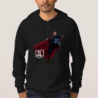 Pull À Capuche Ligue de justice | Superman sur le champ de