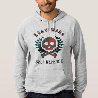 Pull À Capuche Logo d'autodéfense de Krav Maga