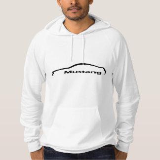 Pull À Capuche Logo noir de silhouette de mustang