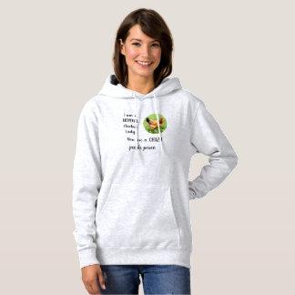 Pull À Capuche Madame folle Shirt Funny Chicken Gift de poulet