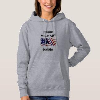 Pull À Capuche maman militaire fière customizeable Hoodie