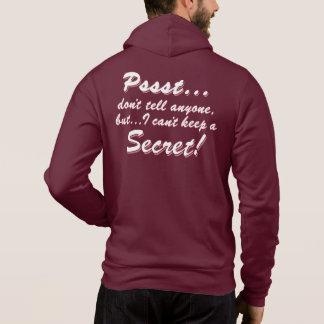 Pull À Capuche Pssst… je ne peux pas garder un SECRET (blanc)