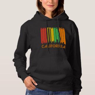 Pull À Capuche Rétro horizon de San Francisco CA de style