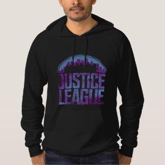 Pull À Capuche Silhouette de ville de ligue de justice de la