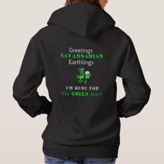 Pull À Capuche Terriens de Savannahian de salutations ! Madame
