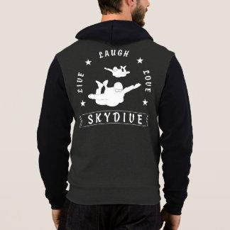 Pull À Capuche Vivent l'amour Skydive (le texte blanc) de rire