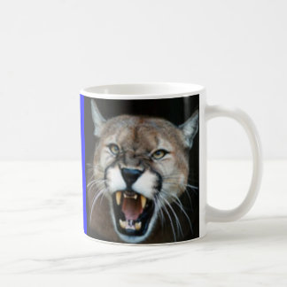 Puma de grondement, puma posé mug