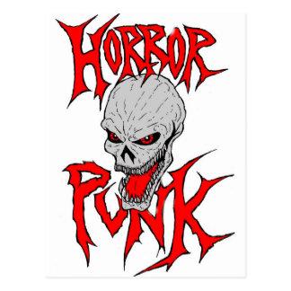 Punk d'horreur carte postale