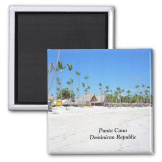 Punta Cana en République Dominicaine Magnet Carré