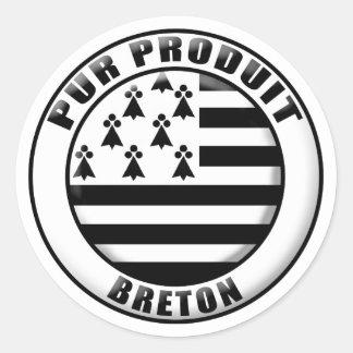 Pur produit Bretagne Sticker Rond