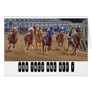 Pur sangs de chevaux de course carte de vœux
