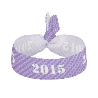 Purple Class Of 2015 Fashion Hair Tie