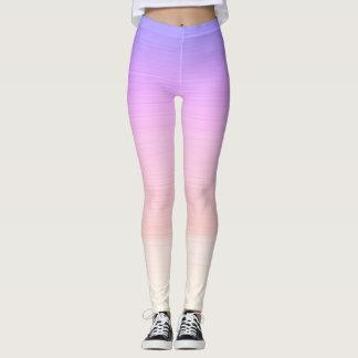 Purple gradient yoga leggings