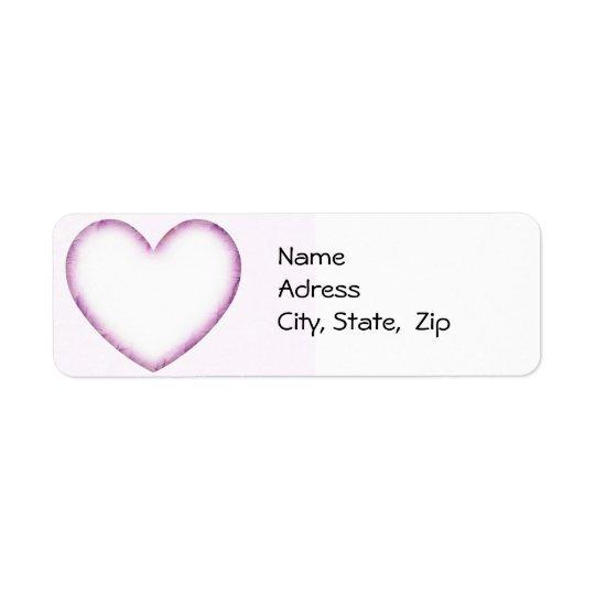 Purple Heart Étiquette D'adresse Retour