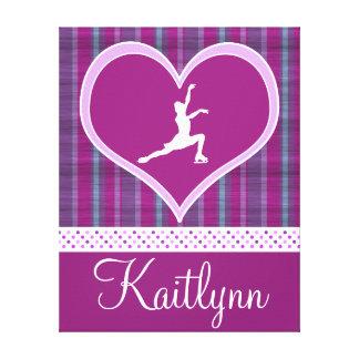 Purple Heart lumineux et patineur artistique de Toile Tendue Sur Châssis