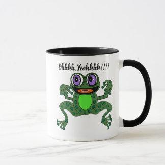 Purps Editable la tasse combinée de grenouille