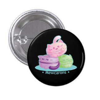 Purrista Pawfee : Chat mignon Macarons de Kitty Badge