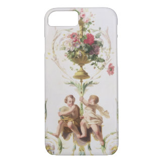 Putti parmi des butins des fleurs et du feuille coque iPhone 7