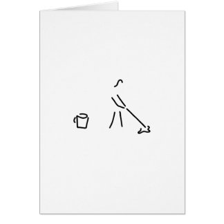 putzfrau personnels de nettoyage industriel carte de vœux