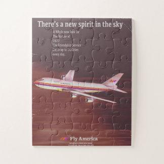 Puzzle 1977 affiches vintages d'avion de ligne de style