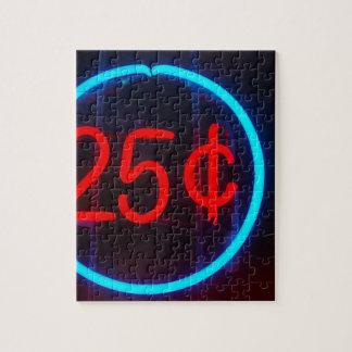 Puzzle 25 cents pour l'exposition