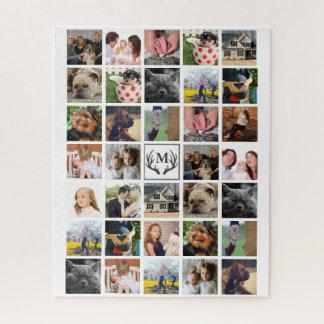 Puzzle 34 andouillers modernes de photos de famille et