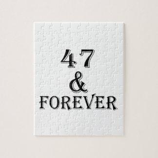 Puzzle 47 et pour toujours conceptions d'anniversaire