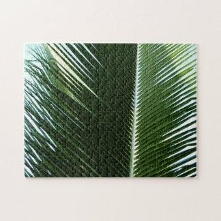 Puzzle Abrégé sur tropical de recouvrement vert de