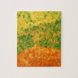 Puzzle abstrait cubisme couleur nature
