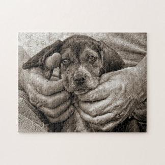 Puzzle Adorable ma photographie créative d'ami de beagle