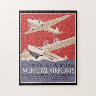 Puzzle Aéroports de Municipal de ville de New-York de