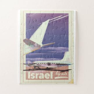 Puzzle Affiche commerciale de voyage d'avion de ligne de