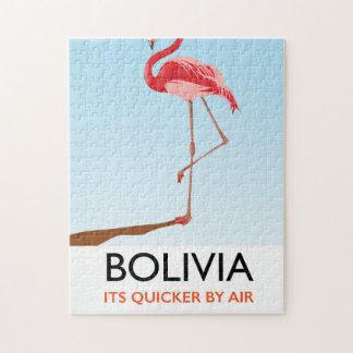 Puzzle Affiche de voyage de flamant de la Bolivie