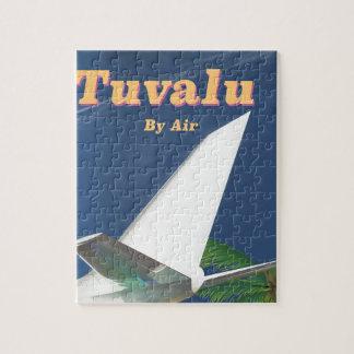 Puzzle Affiche vintage de voyage de style du Tuvalu