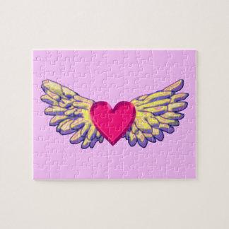 Puzzle ailes de coeur