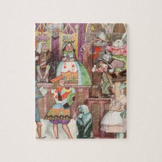 Puzzle Alice vintage au pays des merveilles, reine des