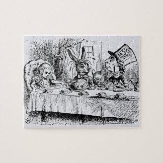 Puzzle Alice vintage au pays des merveilles, scène de thé